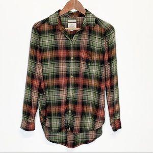 American Eagle Boyfriend Fit Soft Flannel Shirt